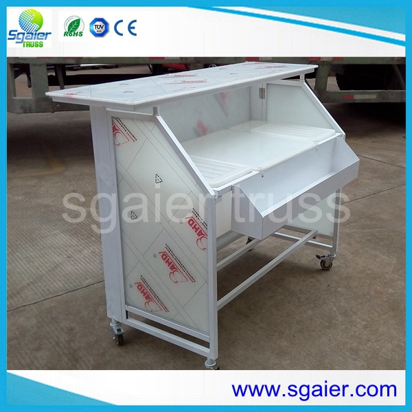 Aluminum Portable Bar Folding Bar Counter With Wheels For Club And Events  For Sale U2013 Truss Furniture Table And Stool Manufacturer From China  (102949254).