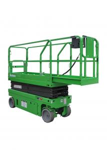 China Working Height Max 7.8m Hydraulic Self Propelled Scissor Lift with Extension Platform Safe Loading 230KG on sale