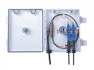 China Durable Wall Mount Termination Box , 2/4/6 Cores Fiber Optic Termination Cabinet on sale