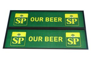 China non-woven bar mats SP OUR BEER bar pad on sale