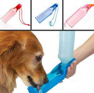 China 500ml pet drinking water fountain reviews Potable Pet Dog Cat Water Feeding Drink Bottle on sale