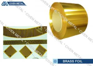 China Copper Zinc Alloy Foil , Brass metal sheets For Radiator Fin With High Performance on sale