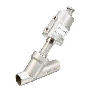 China PV300 2 / 2 Way Pneumatic Angle Seat Valve High Flow Rate With Weld End Connection on sale