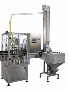 China Industrial Linear Capping Machine / Glass Bottle Vacuum Capping Machine on sale