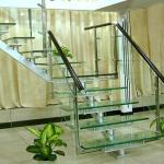 Flooring Safety PVB Laminated Glass Hollow / Solid Structure Customed Size