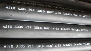 China ASTM A335 P11 Seamless alloy steel pipe on sale