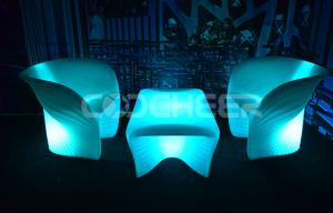 China Lounge Pub Light Up Sofa Rechargeable Change Colors Bluetooth Compatible on sale