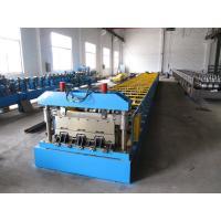 Galvanized Steel Sheet Floor Deck Roll Forming Machine 12-16 m / min Processing Speed
