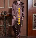 silk nightwear for men , fashinal silk pajamas for man  , high weight silk sleepwear for man