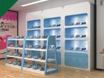Lovely Blue Color Children Shoe Display Shelves Shoes Fixtures For Retail Stores