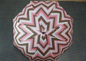 China Fashion 3 Fold Sunshade Windproof Folding Umbrella Tartan Pattern Figure Print on sale