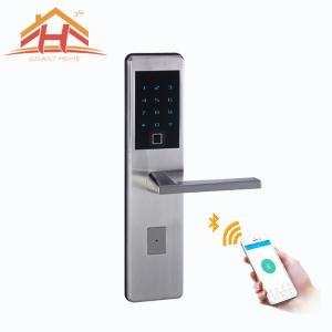 China Intelligent Bluetooth Smart Door Lock Tempered Glass Touch Screen With Hidden Keyhole on sale