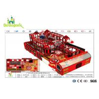 China Kids Play Indoor Soft Playground Red / Black Color With Electric Basketball Games on sale