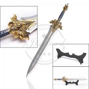 China Cosplay Prop Video Game Replica Swords , 29.5 WOW King Llane'S Metal Sword on sale