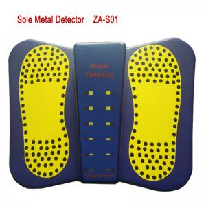 China 2019 New Portable Shoes Metal Detector Sound/LED Alarm High Sensitivity Sole Metal Detector for foot Scanner on sale