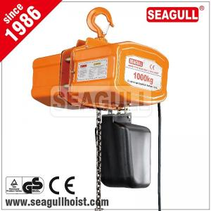 China 1 ton / 1 tonne / 1t electric chain hoist , electric mni crane 12 v on sale