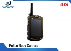 China 3G / 4G Real - Time Transmission WIFI Body Camera Waterproof With Face Recognition on sale