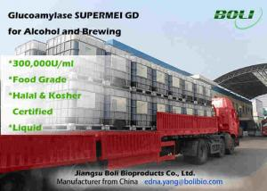 China Liquid 300000 U / ml Glucoamylase Enzyme  High Enzyme Activity For Alcohol And Brewing on sale