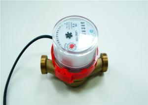 Quality Dry Dial Single Jet Water Meter Brass Hot Water With Remote Reading for sale