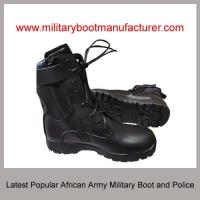Wholesale China made Latest African Army Police Worn Military Tactical Combat Jungle Officer DMS Cement  Boot Shoes