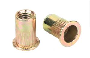 China Durable Alloy Steel Rivet Nuts , M6 Rivet Nut With Yellow Chromate Plated on sale