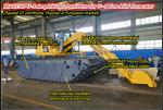 MAXWAY MACHINE COMPANY, Amphibious Pontoon Undercarriage for 7--8 Ton Class Excavator, Model:  MAX150PU-S