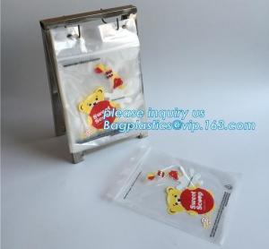 China food storage wicketed ldpe clear plastic zip lock bag with print, FDA Custom Food Grade Wicket Plastic Ziplock Bag, bage on sale