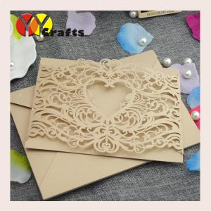 China Special Heart design invitaiton cards laser cut souvenir wedding invitation card for wedding party and gifts on sale