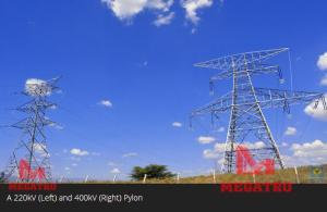 China MEGATRO 220KV and 400KV  overhead transmission line electrical pylons on sale