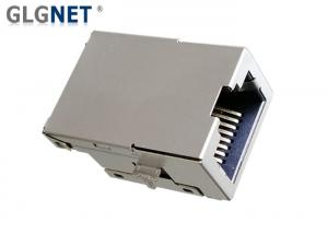 China Integrated Transformer RJ45 Single Port Tab Up -40 To 85 ℃ Operating Temp on sale