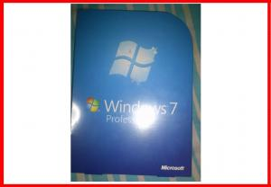 China Microsoft  32 bit full version Windows 7 Professional Retail Box DVD with 1 SATA Cable on sale