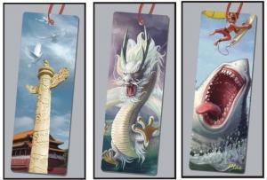 China PLASTICLENTICULAR custom lenticular bookmark pp pet pvc 3d lenticular bookmarks printing manufacturer on sale