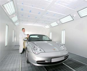 China infrared heating auto spray booth on sale