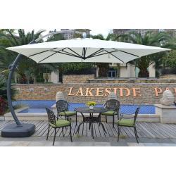 7a9c25c558 Wind Resistant Custom Luxury Square Patio Umbrella White Garden ...