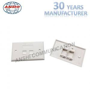 China 115*70 Wall Mount Network Cable Faceplate RJ45 RJ11 Single Port Horizontal Type on sale