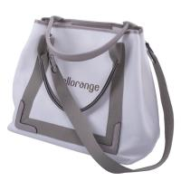 Composite Foldable Travel Tote Bags For Women Hollow Out Pattern Canvas Lining