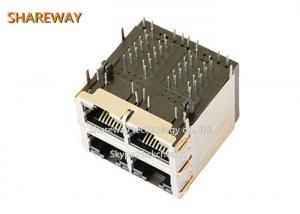 China THT Type Pcb Mount Rj45 Jack C0-0351 NL 1500 Vrms Hipot Test For Switches on sale