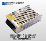 WHOOSH LED Module Power Supply 250W 20.8A Constant Voltage LED Driver 12V