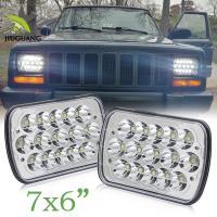 China Off Road Truck 5x7 Led Headlights , 5x7 Led Headlamp 2 Years Warranty on sale