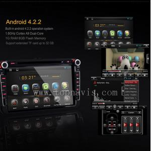 China Android 4.2.2 DVR AIRPLAY 8 inch vw dash mount GPS unit device vw tiguan WIFI 3G 5.0 touch capacity on sale