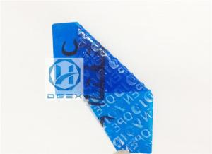 China Non Residue Anti Counterfeit Sticker / Custom Hologram Stickers Material on sale
