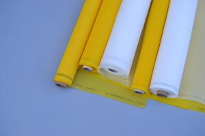 China 100 % Polyester Material Monofilament Screen Printing Mesh White / Yellow Color on sale