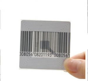 China Security retail store security alarm system rf eas soft label 40*40mm square barcode sticker on sale