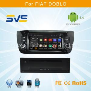 China Android 4.4 car dvd player with GPS for FIAT DOBLO with 6.1 inch touch screen double din on sale