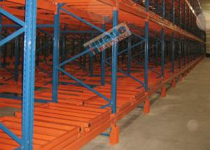 China 1500 Kg Max Load Material Handling Racks Storage Push Back Racking For Freezers on sale