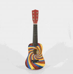 China Children Soild Wood Ukulele Musical Toys , Kids Musical Instruments With Accessories on sale