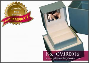 China Custom personalized Gift Jewellery Boxes, designer video elegant ring boxes and double wedding ring box on sale