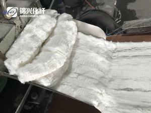 China Polyamide Nylon Flock Tow Crimped Nylon Fiber Nylon Tops Crimped Raw White on sale