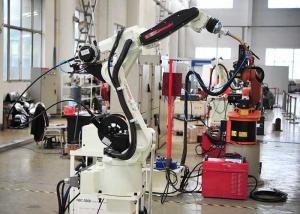 China Stainless Steel Robotic Automation Systems , Auto Exhaust Pipe Robotic Arm Welding Machine on sale