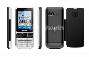 China Black Dual Sim bar cell phone 500mAh with 8G TF card on sale